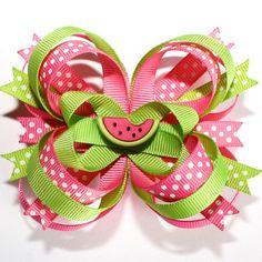 Bow rosa y verde