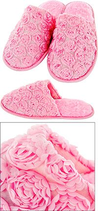 Pink Satin Rose Slippers at The Animal Rescue Site (gram)  $6.99
