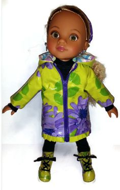 Spring Rain for HeartsforHearts Doll/14 inch doll by CelenaLei, $45.00