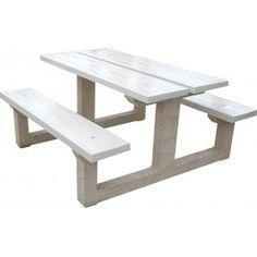 inspirant salon de jardin banc et table | Décoration française ...