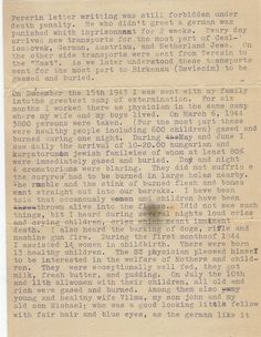This is the second page of the post-war testimony Dr. Kurt Grunwald delivered to Pvt. Albert Levinson in the Ohrdruf concentration camp.  (www.misasfugue.com)