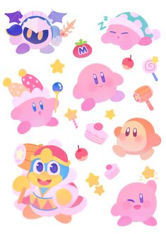 Kirby Stickers by ieafy.deviantart.com on @DeviantArt