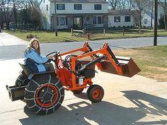 """Gallery - Category: Customers Pics: The """"Micro Hoe"""" for small tractors Small Tractors, Case Tractors, Compact Tractors, Old Tractors, John Deere Garden Tractors, Lawn Mower Tractor, Tractor Loader, Lego Tractor, Garden Tractor Pulling"""