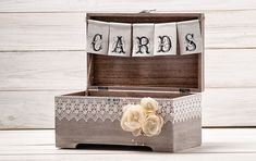 Wedding Rustic Cards Box Rustic Wood Card Holder Wedding Card Chest Wedding Card Gift Box with Rustic Wedding Banner Sign by InesesWeddingGallery on Etsy