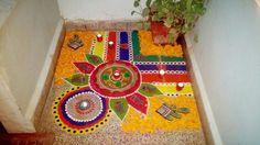 Rangoli Designs Latest, Rangoli Designs Flower, Rangoli Border Designs, Small Rangoli Design, Colorful Rangoli Designs, Rangoli Ideas, Rangoli Designs Diwali, Rangoli Designs Images, Diwali Rangoli