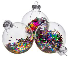 Bright glass Christmas baubles with sequins Christmas Crafts For Kids, Christmas Ideas, Christmas Decorations, Holiday Decor, Kids Crafts, Glass Christmas Baubles, Christmas Bulbs, Xmas, Present Wrapping