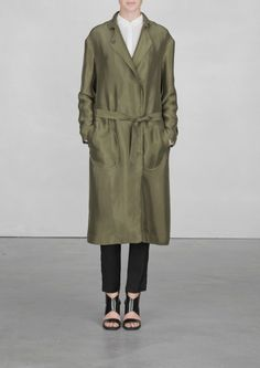 Long cupro coat | Long cupro coat | & Other Stories