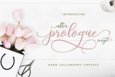 Prologue Script Lite After Prologue Script is a hand lettered stylish calligraphy font that features a varying baseline, smooth line, classic and elegant t