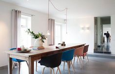 Contemporary Dining Room with Farmhouse Elements