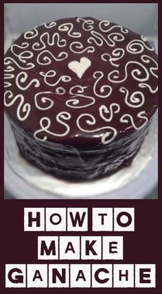 Ganache recipe: 1 cup heavy whipping cream 3/4 cup semi sweet chocolate chips 2 TBL unsalted butter Place the chocolate ...