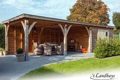 Garden Buildings, Garage Design, Garages, Garden Inspiration, Pergola, Shed, Backyard, Outdoor Structures, House