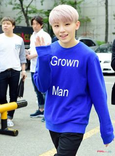 Seventeen Woozi (note; i find his shirt ironic)