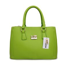 Coach In Saffiano Medium Green Satchels AVZ outlet store NZ865740