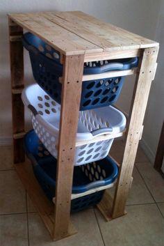 Pallirondack Laundry Basket Dresser made with #pallets #pallet