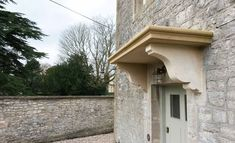 Door canopy above front door