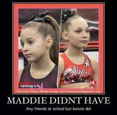 Mackenzie and Maddie battle tonight! Mackenzie does Maddie's old solo Cry and Maddie does either a tap or jazz solo (like Mackenzie does) I think it's tap! Can't wait, I also hope Kendall has another solo but she probably won't. Dance Moms Memes, Dance Moms Comics, Dance Moms Funny, Dance Moms Facts, Dance Moms Dancers, Dance Mums, Dance Moms Girls, Maddie And Mackenzie, Mackenzie Ziegler