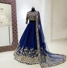 Party Wear Indian Dresses, Party Wear Lehenga, Indian Bridal Outfits, Indian Fashion Dresses, Indian Designer Outfits, Bridal Dresses, Designer Dresses, Designer Wear, Reception Dresses