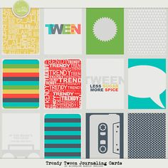 The Lilypad :: Journal Cards :: Trendy Tween Journaling Cards by Micheline Martin Project Life Layouts, Project Life Cards, Free Downloads, Papers Co, Layout Inspiration, Smash Book, Journal Cards, Tween, Infographics