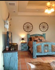 Nice Cute Country Western Decor| Wagon Wheels| Home Decor Bedroom Furniture  Inspiration, Western Bedroom