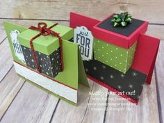 Gift box in a card! Click here to see how to make this super simple, yet adorable holiday gift presentation that I created with the Merry Little Labels stamp set, coordinating Everyday Label punch, and the Merry Little Christmas designer papers...#stampyourartout - Stampin' Up!® - Stamp Your Art Out! www.stampyourartout.com