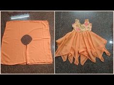 Handkerchief cut frock cutting and stitching Baby Girl Frocks, Baby Girl Party Dresses, Frocks For Girls, Girls Frock Design, Baby Dress Design, Girls Dresses Sewing, Dresses Kids Girl, Sewing Kids Clothes, Barbie Clothes