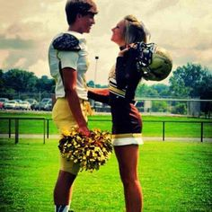 the jock and the cheer leader.. too cute