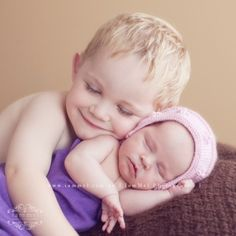 big brother new born sister picture ideas   big brother love by courtney.p.harris.14