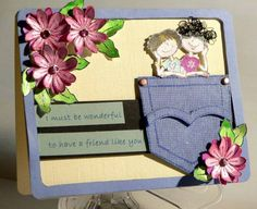 FS55 Pocket Fun for a Wonderful Friend by Maddy Mason - Cards and Paper Crafts at Splitcoaststampers