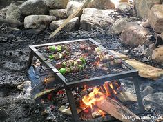Kebabs at #Yawgoog's Campcraft Center!  A 2015 image by David R. Brierley.