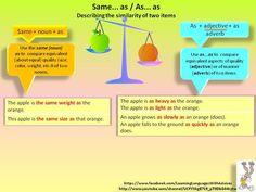 Forum   ________ Learn English   Fluent LandSame…as vs As… as   Fluent Land