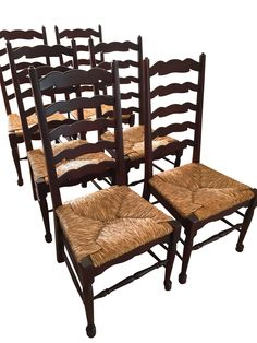 Beau English Styled Ladder Back Side Chairs   Set Of 6 On Chairish.com