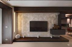 隱巷設計 Small Living Rooms, Living Room Modern, My Living Room, Living Room Decor, Tv Unit Furniture Design, Hall Interior Design, Modern Tv Wall Units, Living Room Tv Unit Designs, Tv Wall Design