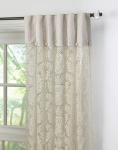 Like this header - The unique inverted pleat header construction of this panel forms evenly spaced pleats and creates a highly decorative effect at the top of the window; the tab opening measures eight inches to accommodate either a standard or decorative drapery rod.