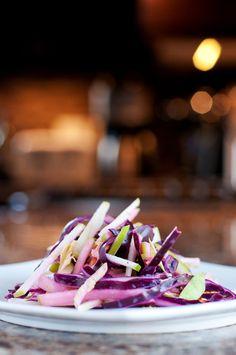 Purple Cabbage & Apple Slaw | bsinthekitchen.com #coleslaw #salad #bsinthekitchen