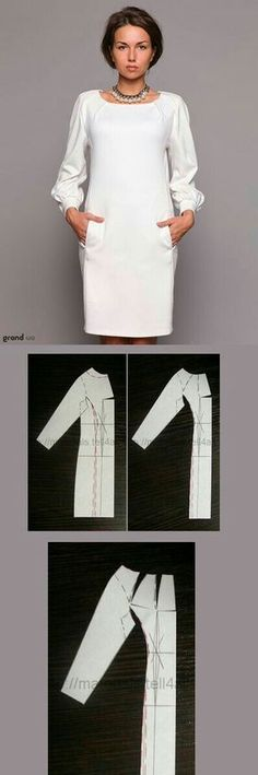Discover thousands of images about dress pattern Diy Clothing, Sewing Clothes, Clothing Patterns, Dress Patterns, Sewing Patterns, Diy Kleidung, Diy Fashion, Fashion Design, How To Make Clothes