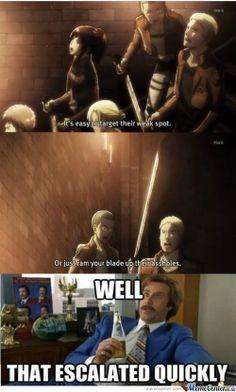 attack of the titans funny   attack on titan meme - Google Search
