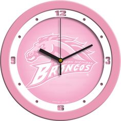 Ladies Western Michigan Broncos - Pink Wall Clock