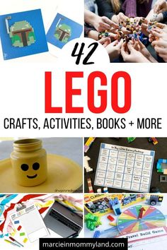 42 Lego Crafts and Activities for Endless Fun Kids Activities At Home, Lego Activities, Math For Kids, Educational Activities, Lego Projects, Craft Projects For Kids, Kids Crafts, Lego Math, Lego Craft