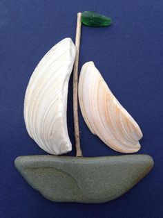 Heather Smith, Heather's Sea & Stone Designs Sea Glass Crafts, Sea Crafts, Sea Glass Art, Seashell Art, Seashell Crafts, Stone Crafts, Rock Crafts, Heather Smith, Shelled