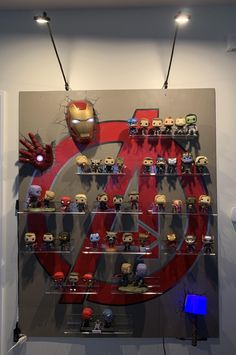 Great Ideal for displaying your Marvel Avengers Funko Pops! For The Best Mugs On Etsy Check out Kevin's Corner Store Today! Funko Pop Marvel, Marvel Bedroom, Marvel Nursery, Bedroom Boys, Baby Bedroom, Avengers Room, Marvel Avengers, Funko Pop Display, Deco Cool