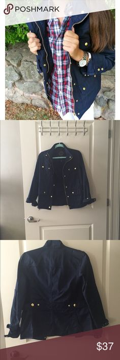 J Crew Boyfriend Field Jacket Beautiful jacket, no flaws. Barely worn. Perfect for fall/winter with rolled up sleeves and a button down! J. Crew Jackets & Coats Utility Jackets