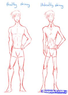 how to draw skinny people, draw skinny bodies step 4