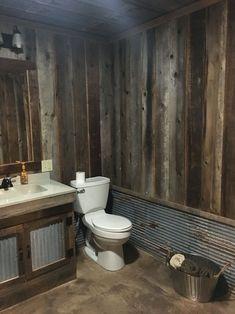 ✔ 24 easy rustic bathroom design ideas you might build for your home 17 Related. 24 Easy Rustic Bathroom Design Ideas you Might Build for Your Home Barn Bathroom, Cabin Bathrooms, Basement Bathroom, Bathroom Ideas, Bathroom Organization, Man Cave Bathroom, Bathroom Storage, Bathroom Cabinets, Shower Ideas