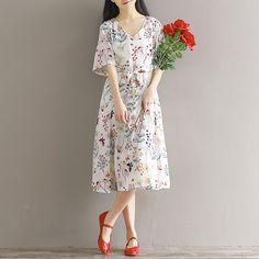 Mori Girl Style Butterfly Flowers Floral Print Long Dress 2017 Summer Vintage Vestidos Women V-neck Long Chiffon Dresses