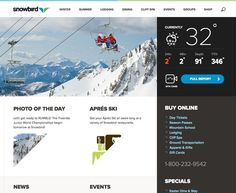 Snowbird logo and website