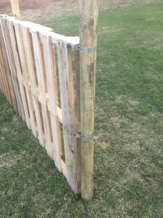 The side of our pallet fence