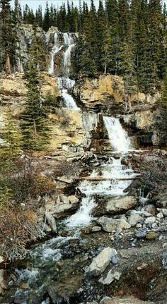 Exploring on our drive home through #Jasper #waterfall #explorealberta