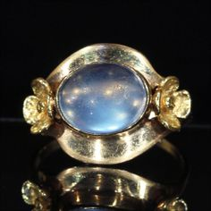 Gorgeous Antique Arts and Crafts Moonstone by VictoriaSterling, $1520.00
