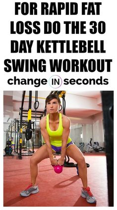 For Rapid Fat Loss Do The 30 Day Kettlebell Swing Workout! Print our FREE PDF and do the workout anywhere! For Rapid Fat Loss Do The 30 Day Kettlebell Swing Workout! Print our FREE PDF and do the workout anywhere! Losing Weight Tips, Weight Loss Tips, How To Lose Weight Fast, Weight Gain, Rapid Weight Loss, Workout To Lose Weight Fast, Weight Lifting For Women Routine, Best Weight Loss Foods, Reduce Weight