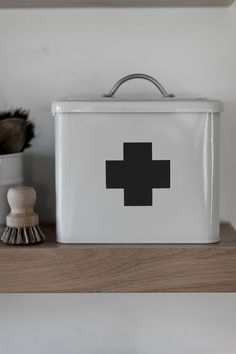 First Aid Box in Slate at Garden Trading